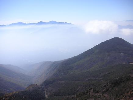 観音平からの稜線
