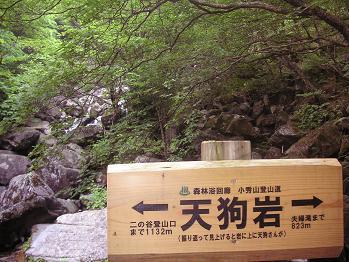 天狗岩。。の道標