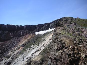 爆裂火口と登山道も。。