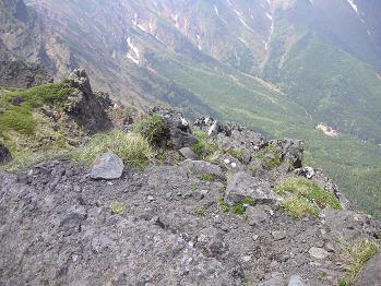 崖の上のランチ