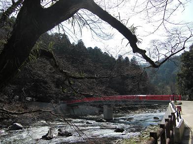 赤い待月橋