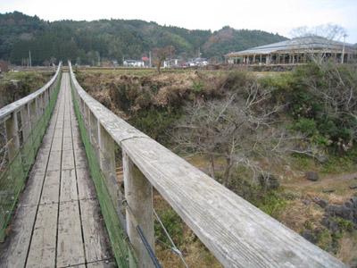 滝見橋と道の駅
