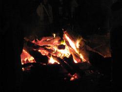 滝宮神社のたき火