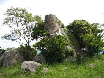 中央の巨石
