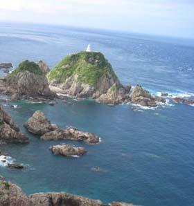 上からの佐多岬灯台