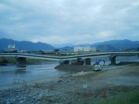 2007年台風9号で崩落した十文字橋