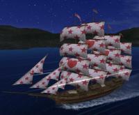 ハート紋章と船