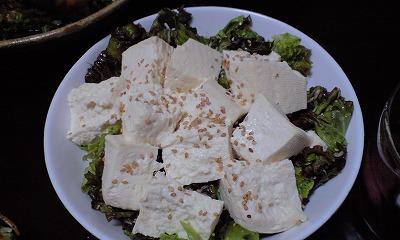 木綿豆腐としらすのゴマ風味サラダ