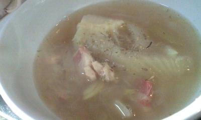 フェンネルとパンツェッタのスープ