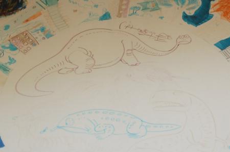 手塚先生直筆画 恐竜