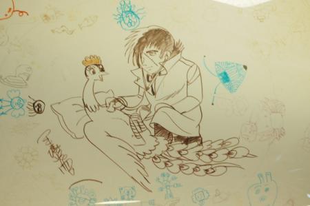 手塚先生直筆画 火の鳥を診察するBJ
