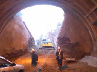 トンネル貫通