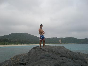 380 古座間味ビーチ 記念撮影