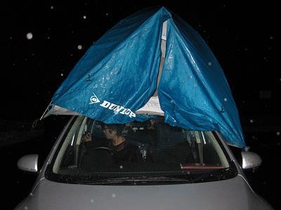 167 雨によりテントごと移動