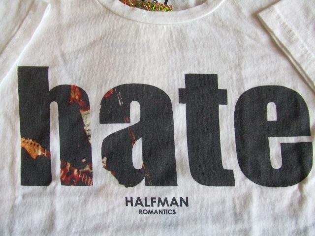 HALFMAN hate ss tee White