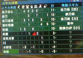 MHP3rd 発動スキル