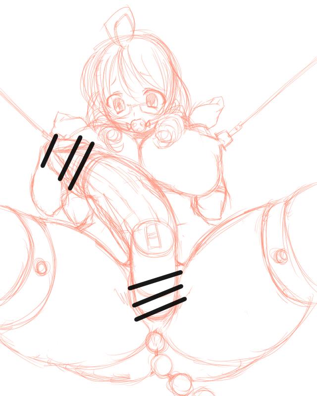 拘束ユミ先生-ラフ