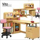Vitz-ヴィッツ- ナチュラル色 木製 システムデスク/フリーデスク 組み合わせ自由 6点セット 幅100cm