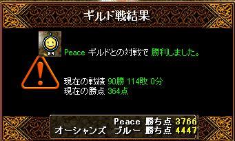 1月4日「Peace」ギルド結果