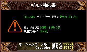 3月22日「Crusader」ギルド結果