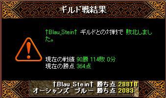 3月25日「†Blau_Stein†」ギルド結果