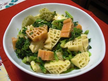 菜花とパスタの粒マスタードサラダ