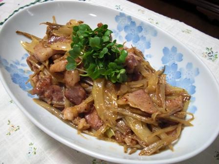 ごぼう豚肉セロリ