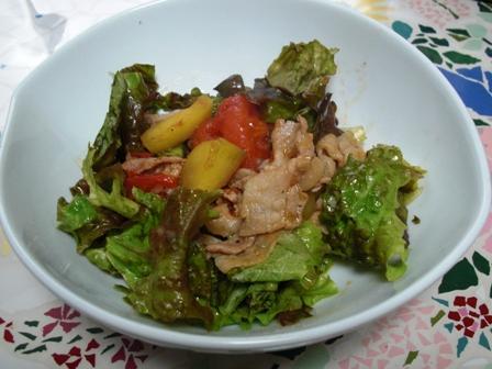 さつま芋と豚肉のサラダ