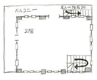 愛宕駅跡2階見取り図