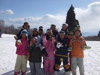 スキー場全員