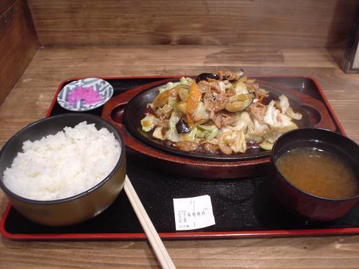 市川食堂なす味噌炒め定食016
