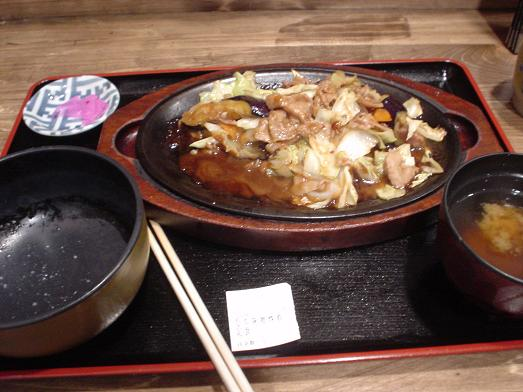市川食堂なす味噌炒め定食017