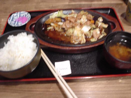 市川食堂なす味噌炒め定食018