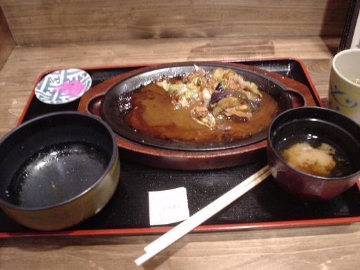 市川食堂なす味噌炒め定食019