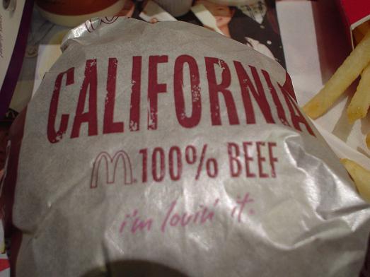 マクドナルドビッグアメリカカリフォルニアバーガー046