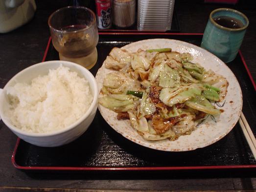 まんぷく食堂で回鍋肉(ホイコーロー)014