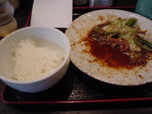 まんぷく食堂で回鍋肉(ホイコーロー)016