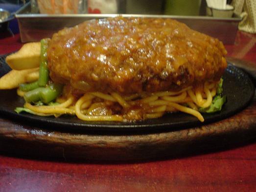 小岩のレストラン喫茶タクトのハンバーグ定食005
