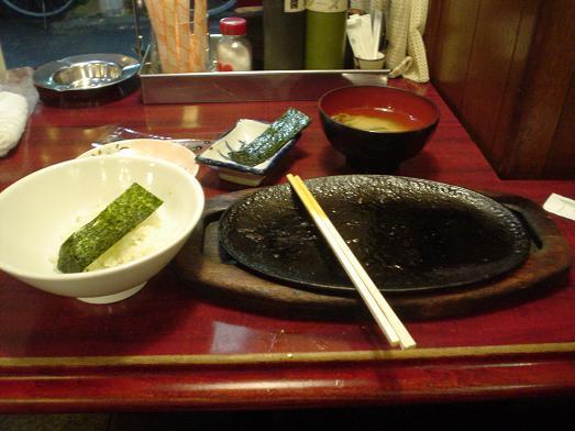 小岩のレストラン喫茶タクトのハンバーグ定食007