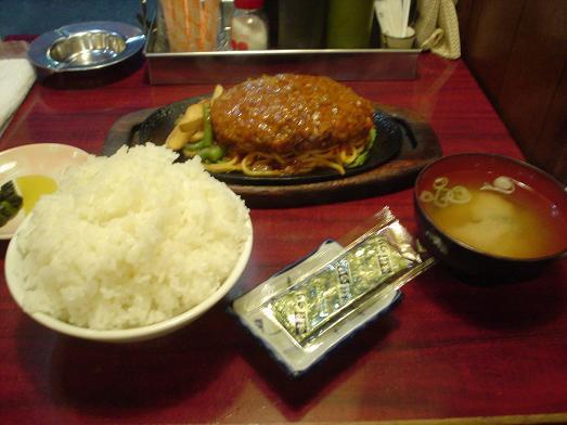 レストラン喫茶タクトのハンバーグ定食017