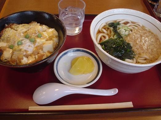 山田うどんのお得セット「とうふ玉子丼セット」026
