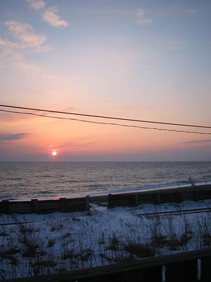 マルセイビーチリゾートの夕日