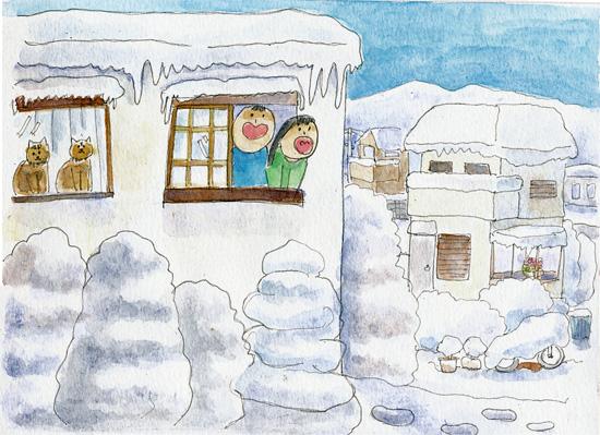 大雪だるま4
