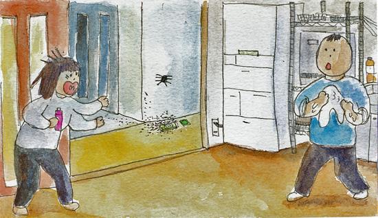 ありと蜘蛛