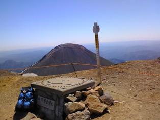 山頂 阿寒富士