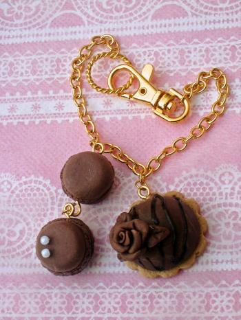 チョコバラタルトのバッグチャーム