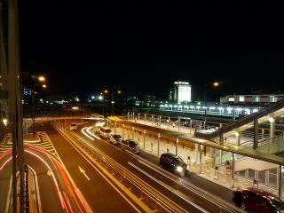 JR岡崎駅のバス乗降場と一般車乗降場 10月1日