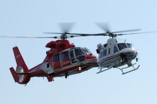 ユーロコプター AS365N3 ドーファン「なごやヘリ」&ベル 412EP 愛知県防災ヘリコプター「わかしゃち」