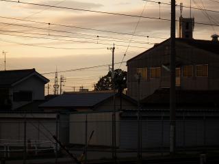 雨上がりの夕方・・火の見櫓
