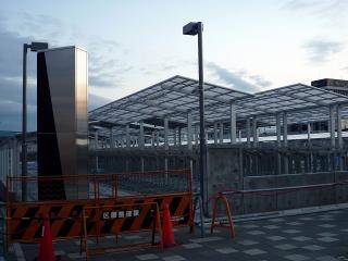 岡崎駅の自転車置場の工事